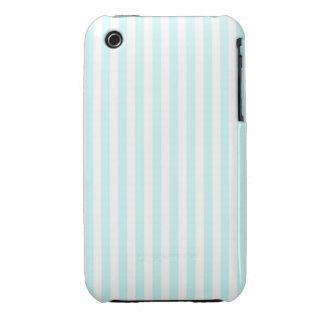 Vintage Baby Blue Pastel Colors Stripes Pattern iPhone 3 Case-Mate Cases