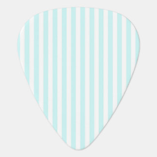 Vintage Baby Blue Pastel Colors Stripes Pattern Guitar Pick