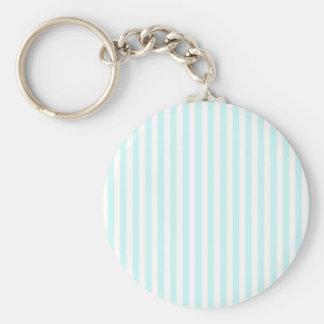 Vintage Baby Blue Pastel Colors Stripes Pattern Keychains