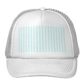 Vintage Baby Blue Pastel Colors Stripes Pattern Trucker Hat