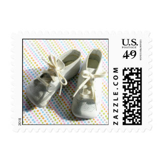 Vintage baby booties stamps for postcards