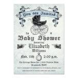 Vintage Baby Boy Shower Invitation