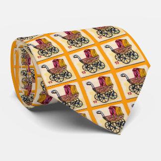 Vintage Baby Buggy Game Card Tie