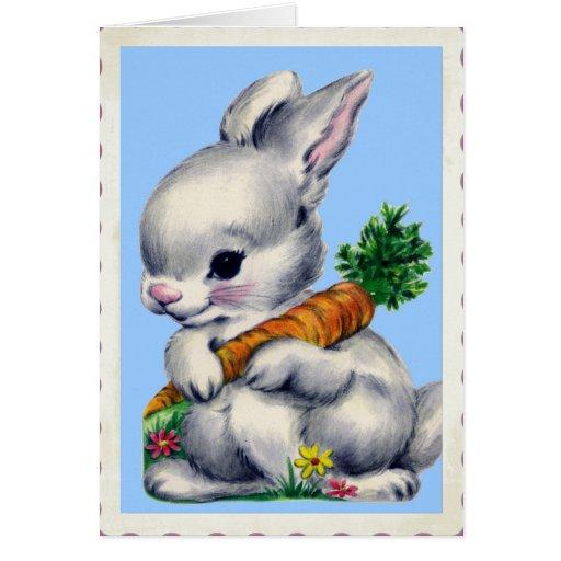 Vintage Baby Bunny Valentine Card
