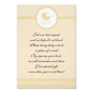 Vintage Baby Carriage Baby Shower Card
