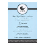 Vintage Baby Carriage Baby Shower Custom Announcements