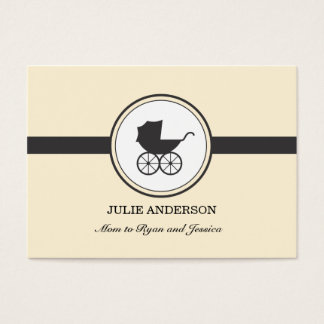 Vintage Baby Carriage Calling Card