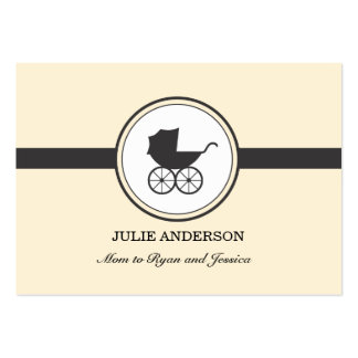 Vintage Baby Carriage Calling Card Large Business Card