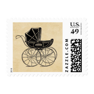 Vintage Baby Carriage Postage Stamp