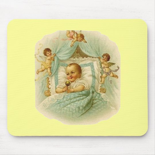 Vintage Baby & Cherubs Mouse Pad