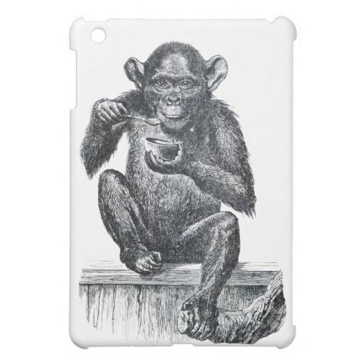 Vintage Baby Chimpanzee Drawing iPad Mini Case