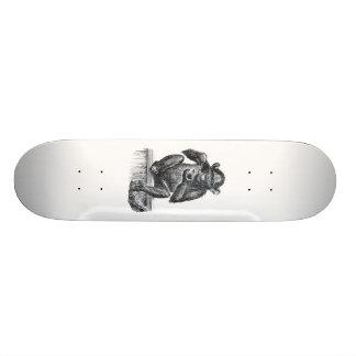 Vintage Baby Chimpanzee Drawing Skateboard