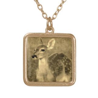 Vintage baby deer Necklace