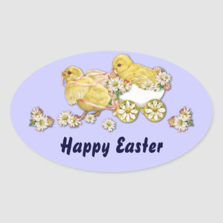 Vintage Baby Easter Chicks Custom Stickers
