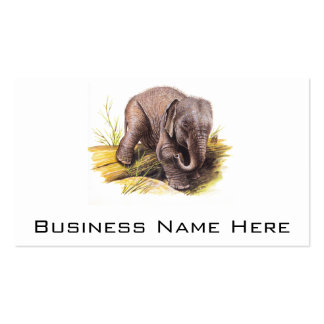 Vintage Baby Elephant Business Card Template