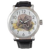 Vintage Baby Elephant Wrist Watch