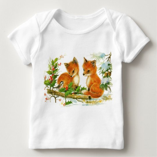 Vintage baby foxes baby T-Shirt