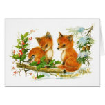 Vintage Baby Foxes Cards