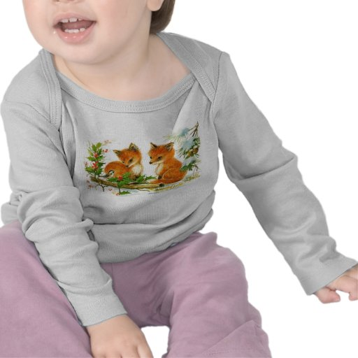 Vintage baby foxes tshirts