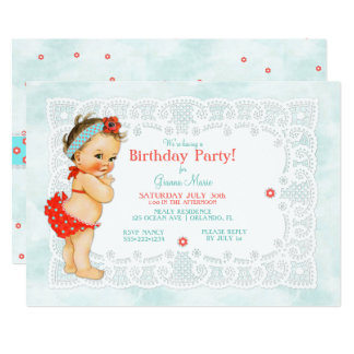 Vintage Baby Girl Bathing Suit Lace Monogram Back Card