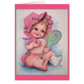 Vintage Baby Girl Card
