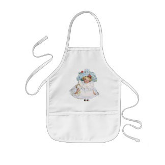 Vintage Baby Girl Doll, Easter Dress and Hat Kids' Apron