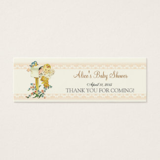 Vintage Baby Girl Mail Box Baby Shower Favor Tag