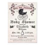 Vintage Baby Girl Shower Invitation