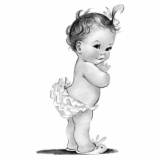 Vintage Baby Girl Shower Statuette
