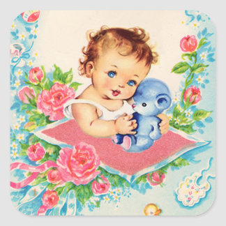 Vintage Baby Girl Stickers
