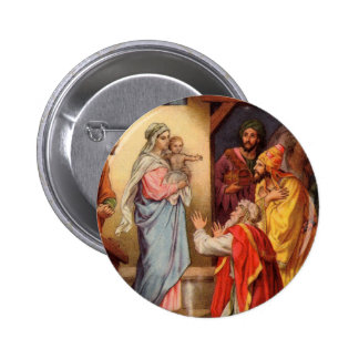Vintage Baby Jesus and the 3 Kings Button