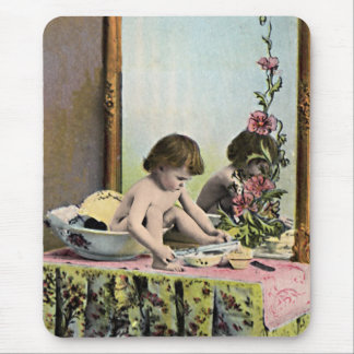 Vintage Baby On A Dressing Table Mouse Pad