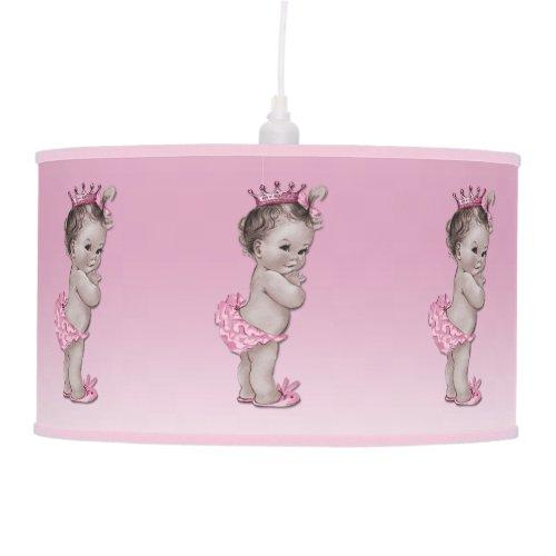 Vintage Baby Princess Pink Ceiling Lamp