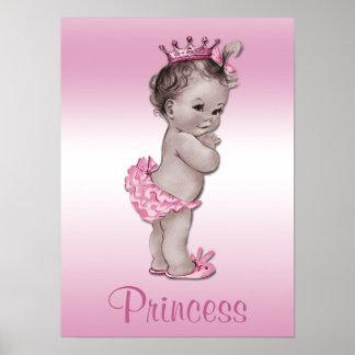 Vintage Baby Princess Pink Posters