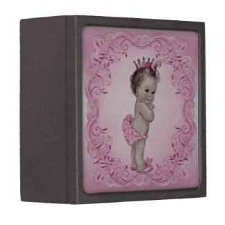 Vintage Baby Princess Pink Premium Jewelry Boxes