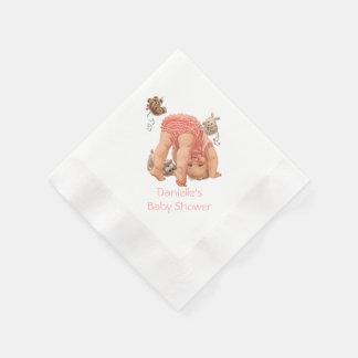 Vintage Baby Shower Custom Paper Napkins Paper Napkins
