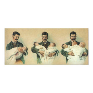 Vintage Baby Shower for Men! A Dadchelor Party! Card