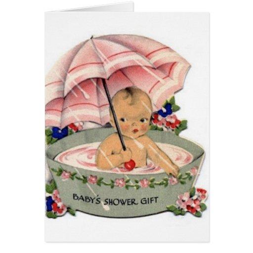 Vintage Baby Shower Gift Card | Zazzle