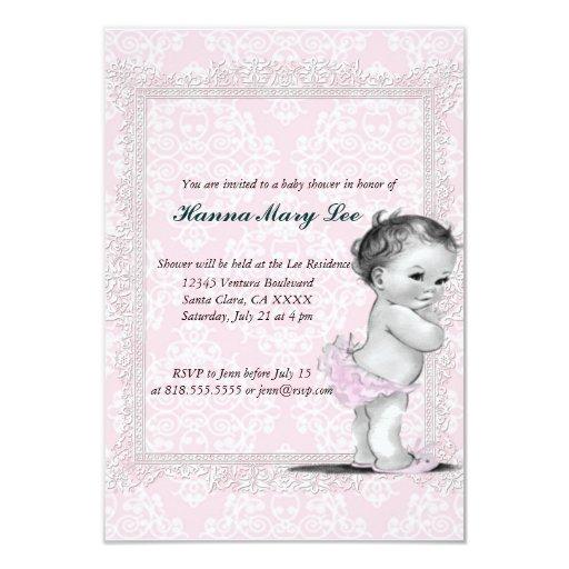 Vintage Baby Shower Invitations ~ Vintage baby shower invitation