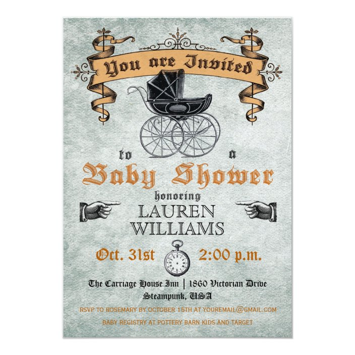 Vintage Baby Shower Invitation Zazzle