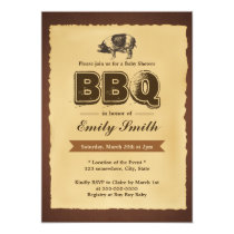Vintage Baby Shower Pig Roast BBQ Party Invitation