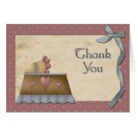Vintage Baby Shower Thank You Greeting Card