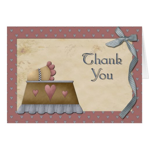 vintage baby shower thank you greeting card zazzle