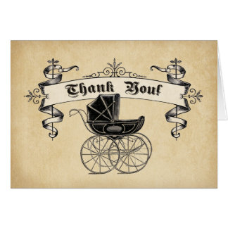 Vintage Baby Shower Thank You Note Card
