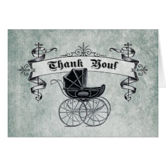 Vintage Baby Shower Thank You Note Card II