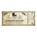 Vintage Baby Shower Ticket Invitation