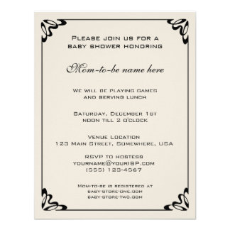 Vintage Baby Shower, Yellow Flowers Floral Meadow Invite