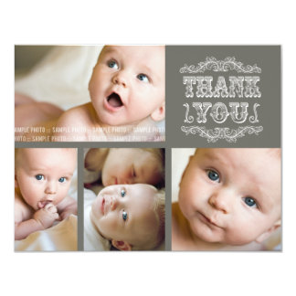 VINTAGE Baby Thank You Photo Cards + Envelopes