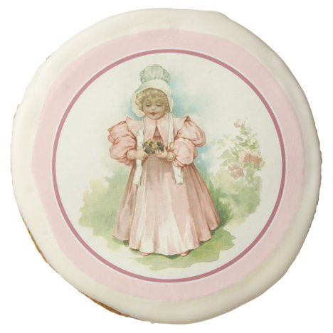 Vintage Baby with Chicks Easter Gift Cookies