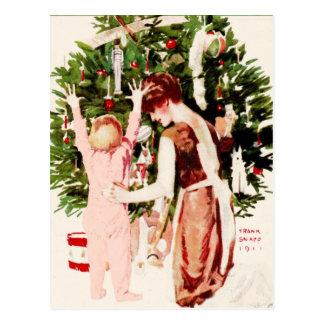 VINTAGE BABY'S FIRST CHRISTMAS POSTCARD